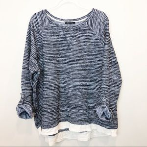 Relativity Spaced Dyed Layered Sweatshirt